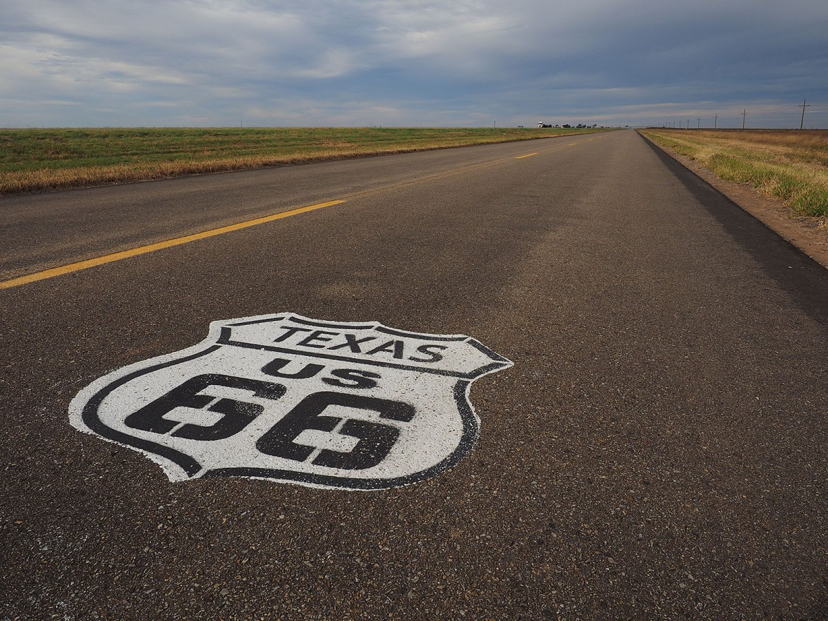 Historic Route 66 west of Amarillo.