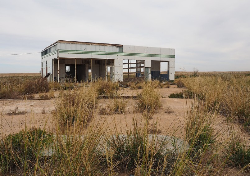 Abandoned gas station.