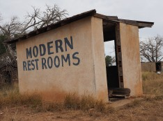 Modern rest rooms near Endee, New Mexico.