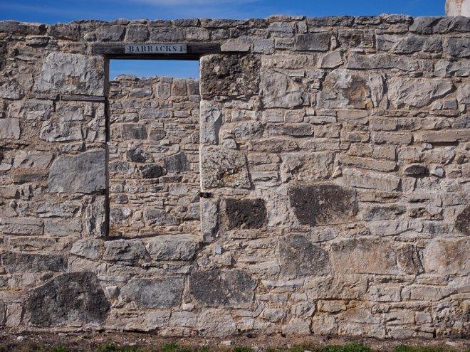 Ruins of the Fort McKavett barracks.