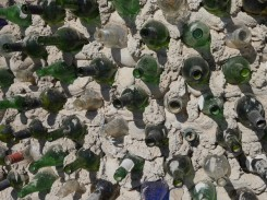 The bottle wall at East Jesus.