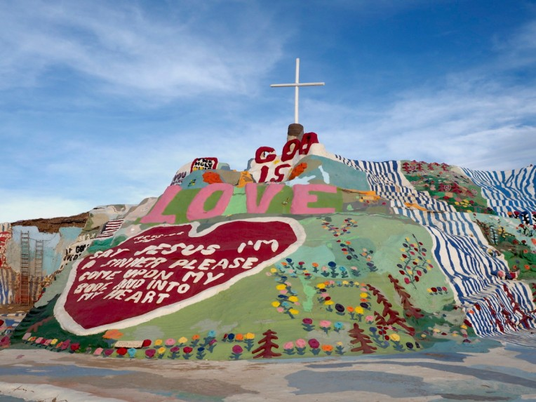 Salvation Mountain at the entrance to Slab City, CA.