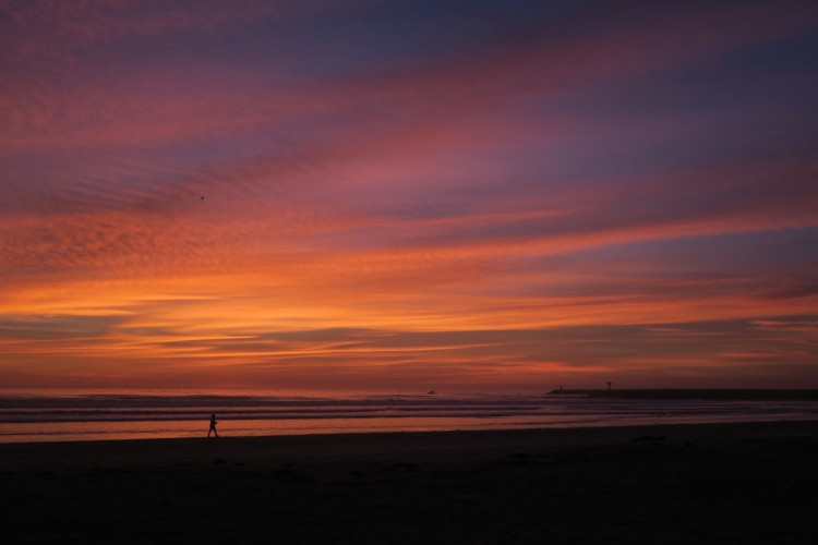 Sunset at Oceanside, CA.