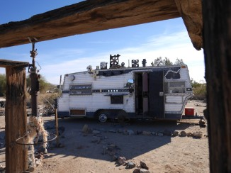 A trailer at Slab City, CA.