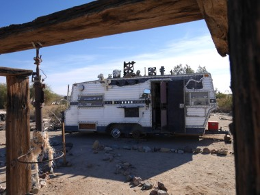 A trailer at Slab City, CA.