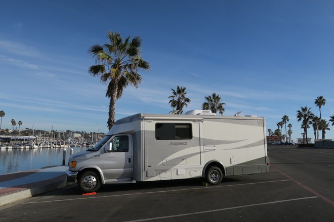 Camping at Oceanside Harbor