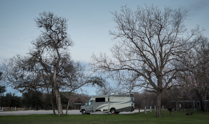 Camping in Goliad State Park.